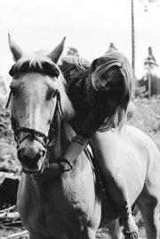 Kobieta na koniui